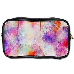 Watercolor Galaxy Purple Pattern Toiletries Bags 2 Side by paulaoliveiradesign