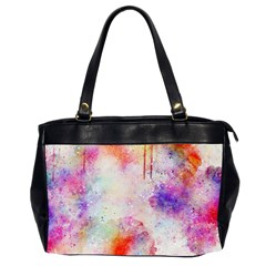Watercolor Galaxy Purple Pattern Office Handbags (2 Sides)  by paulaoliveiradesign
