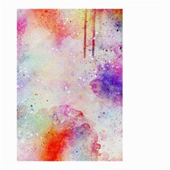 Watercolor Galaxy Purple Pattern Small Garden Flag (two Sides) by paulaoliveiradesign