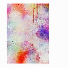 Watercolor Galaxy Purple Pattern Large Garden Flag (two Sides) by paulaoliveiradesign