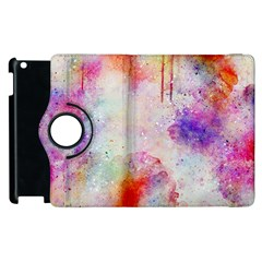 Watercolor Galaxy Purple Pattern Apple Ipad 3/4 Flip 360 Case by paulaoliveiradesign