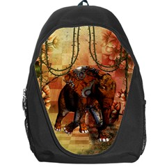 Steampunk, Steampunk Elephant With Clocks And Gears Backpack Bag by FantasyWorld7