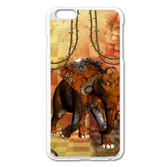Steampunk, Steampunk Elephant With Clocks And Gears Apple Iphone 6 Plus/6s Plus Enamel White Case by FantasyWorld7
