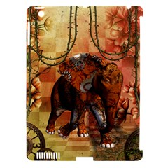 Steampunk, Steampunk Elephant With Clocks And Gears Apple Ipad 3/4 Hardshell Case (compatible With Smart Cover) by FantasyWorld7
