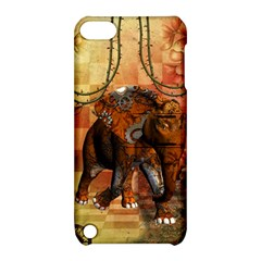 Steampunk, Steampunk Elephant With Clocks And Gears Apple Ipod Touch 5 Hardshell Case With Stand by FantasyWorld7