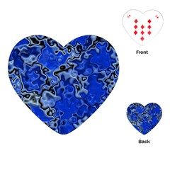 Wet Plastic, Blue Playing Cards (heart)  by MoreColorsinLife