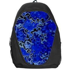 Wet Plastic, Blue Backpack Bag by MoreColorsinLife