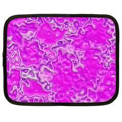 Wet Plastic, Pink Netbook Case (xxl)  by MoreColorsinLife