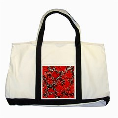 Wet Plastic, Red Two Tone Tote Bag by MoreColorsinLife