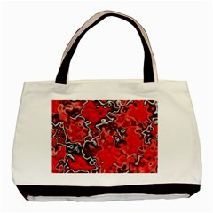 Wet Plastic, Red Basic Tote Bag (two Sides) by MoreColorsinLife