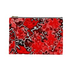 Wet Plastic, Red Cosmetic Bag (large)  by MoreColorsinLife