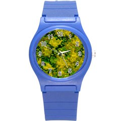 Wet Plastic, Yellow Round Plastic Sport Watch (s) by MoreColorsinLife