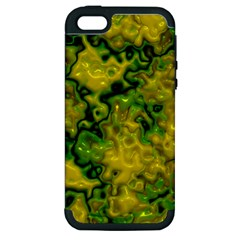 Wet Plastic, Yellow Apple Iphone 5 Hardshell Case (pc+silicone) by MoreColorsinLife