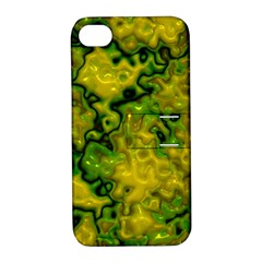 Wet Plastic, Yellow Apple Iphone 4/4s Hardshell Case With Stand by MoreColorsinLife