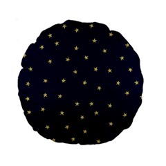 Navy/gold Stars Standard 15  Premium Round Cushions by Colorfulart23