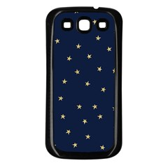 Navy/gold Stars Samsung Galaxy S3 Back Case (black) by Colorfulart23