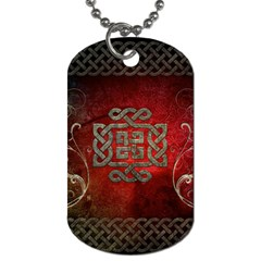 The Celtic Knot With Floral Elements Dog Tag (one Side) by FantasyWorld7