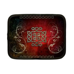 The Celtic Knot With Floral Elements Netbook Case (small)  by FantasyWorld7