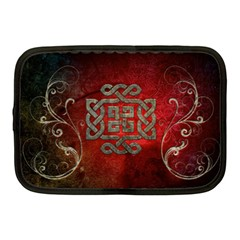 The Celtic Knot With Floral Elements Netbook Case (medium)  by FantasyWorld7