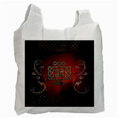 The Celtic Knot With Floral Elements Recycle Bag (one Side) by FantasyWorld7