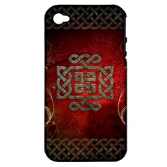 The Celtic Knot With Floral Elements Apple Iphone 4/4s Hardshell Case (pc+silicone) by FantasyWorld7