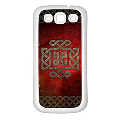 The Celtic Knot With Floral Elements Samsung Galaxy S3 Back Case (white) by FantasyWorld7