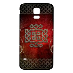 The Celtic Knot With Floral Elements Samsung Galaxy S5 Back Case (white) by FantasyWorld7