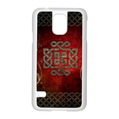The Celtic Knot With Floral Elements Samsung Galaxy S5 Case (white) by FantasyWorld7