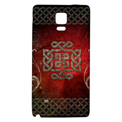 The Celtic Knot With Floral Elements Galaxy Note 4 Back Case by FantasyWorld7
