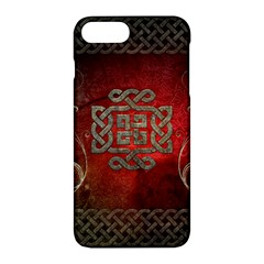The Celtic Knot With Floral Elements Apple Iphone 7 Plus Hardshell Case by FantasyWorld7