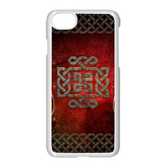 The Celtic Knot With Floral Elements Apple Iphone 7 Seamless Case (white) by FantasyWorld7