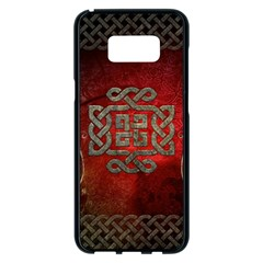 The Celtic Knot With Floral Elements Samsung Galaxy S8 Plus Black Seamless Case by FantasyWorld7