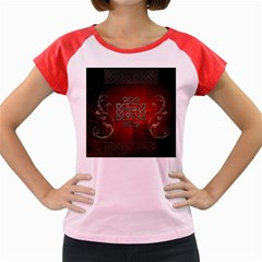 The Celtic Knot With Floral Elements Women s Cap Sleeve T Shirt by FantasyWorld7