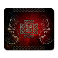 The Celtic Knot With Floral Elements Large Mousepads by FantasyWorld7
