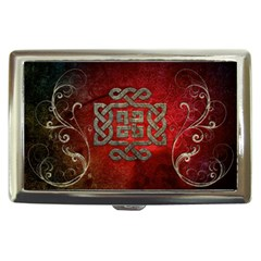 The Celtic Knot With Floral Elements Cigarette Money Cases by FantasyWorld7
