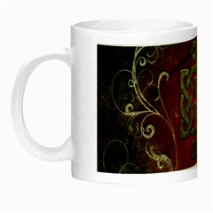 The Celtic Knot With Floral Elements Night Luminous Mugs by FantasyWorld7