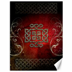 The Celtic Knot With Floral Elements Canvas 36  X 48   by FantasyWorld7