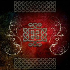 The Celtic Knot With Floral Elements Magic Photo Cubes by FantasyWorld7