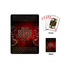 The Celtic Knot With Floral Elements Playing Cards (mini)  by FantasyWorld7