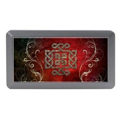 The Celtic Knot With Floral Elements Memory Card Reader (mini) by FantasyWorld7
