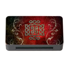 The Celtic Knot With Floral Elements Memory Card Reader With Cf by FantasyWorld7