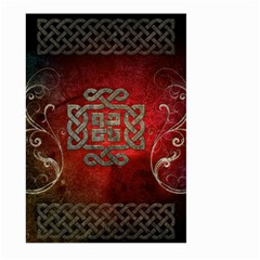 The Celtic Knot With Floral Elements Large Garden Flag (two Sides) by FantasyWorld7