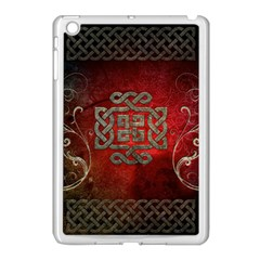 The Celtic Knot With Floral Elements Apple Ipad Mini Case (white) by FantasyWorld7