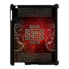 The Celtic Knot With Floral Elements Apple Ipad 3/4 Case (black) by FantasyWorld7