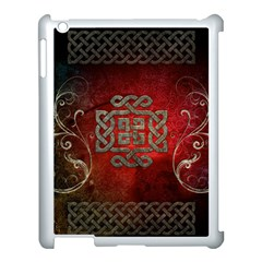 The Celtic Knot With Floral Elements Apple Ipad 3/4 Case (white) by FantasyWorld7