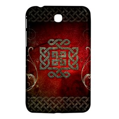 The Celtic Knot With Floral Elements Samsung Galaxy Tab 3 (7 ) P3200 Hardshell Case  by FantasyWorld7