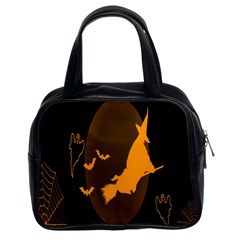 Day Hallowiin Ghost Bat Cobwebs Full Moon Spider Classic Handbags (2 Sides) by Mariart
