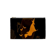 Day Hallowiin Ghost Bat Cobwebs Full Moon Spider Cosmetic Bag (small)  by Mariart