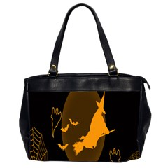 Day Hallowiin Ghost Bat Cobwebs Full Moon Spider Office Handbags (2 Sides)  by Mariart