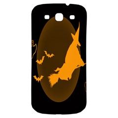 Day Hallowiin Ghost Bat Cobwebs Full Moon Spider Samsung Galaxy S3 S Iii Classic Hardshell Back Case by Mariart